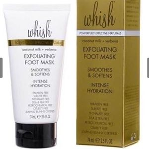 NIB WHISH EXFOLIATING COCONUT VERBENA FOOT MASK